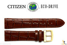 Citizen AR3002-21A Eco-Drive Original 20mm Brown Leather Watch Band 4-S043379