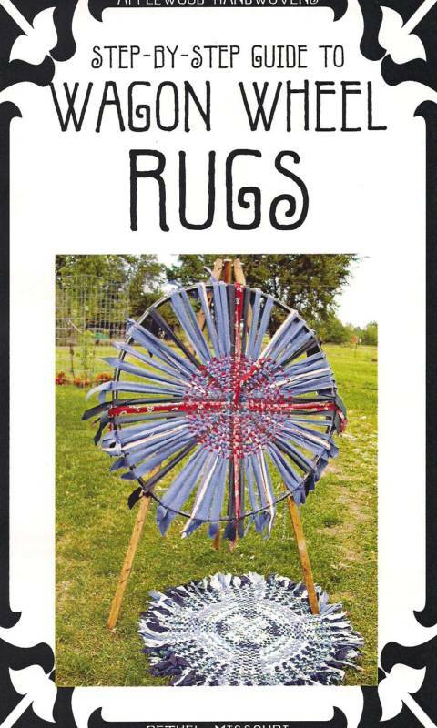 Wagon Wheel Rugs Weave A Rag Rug From Fabric Strips Ebay