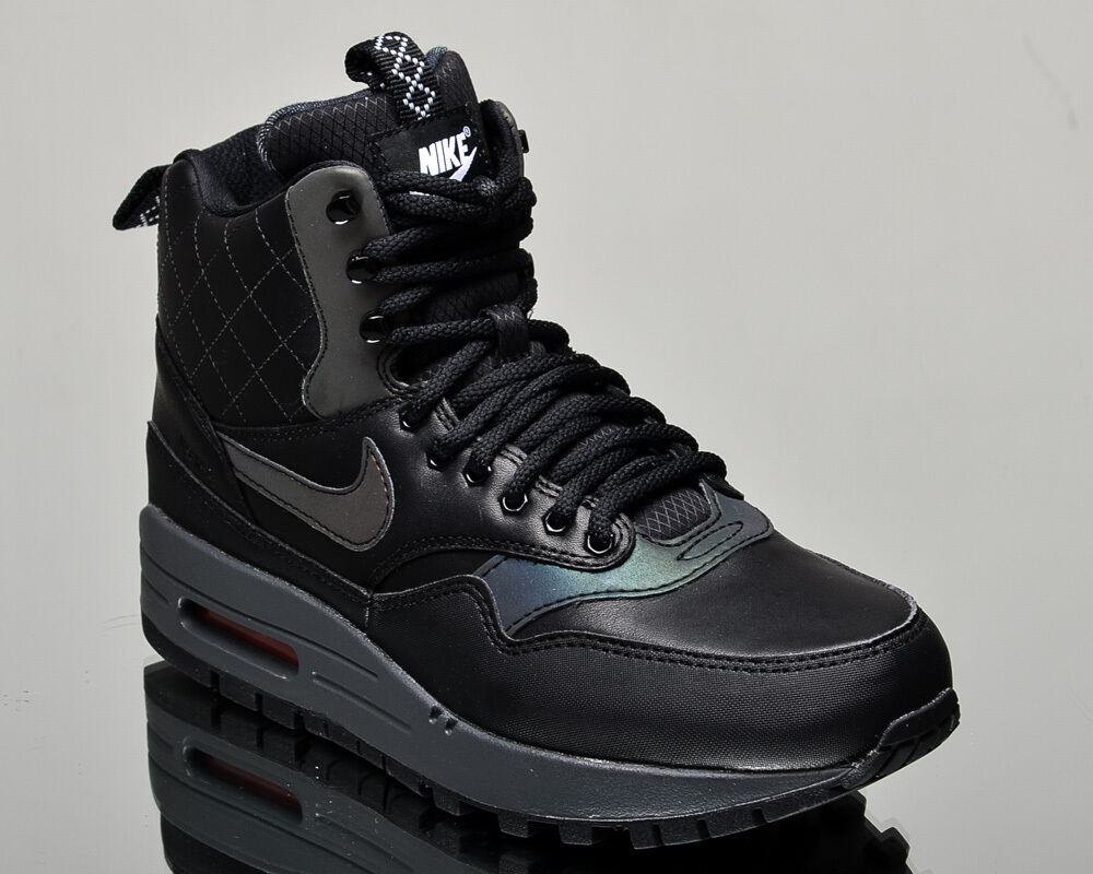 Nike air max 1 wmns mitte sneakerboot reflektieren reflektieren reflektieren frauen winter neue schwarze turnschuhe 025943