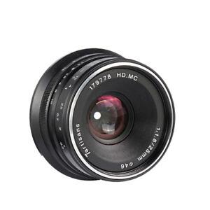7artisans-25mm-F1-8-Manual-Focus-Lens-BLACK-for-m43-MFT-m4-3-Panosonic-Cameras