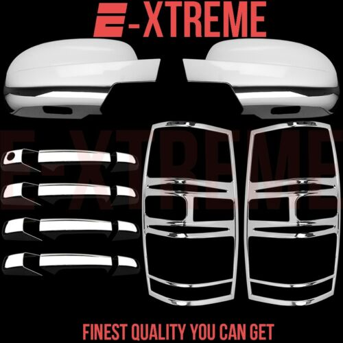 FOR CHEVY TAHOE 07-14 CHROME MIRROR DOOR HANDLES TAIL LIGHTS COVERS