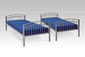 Metallbett Etagenbett : Einzelbett pipilotta grau metallbett etagenbett hochbett