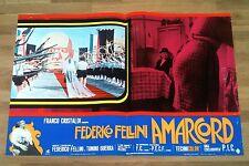 AMARCORD locandina poster affiche Federico Fellini Gambini Matrimonio Duce S4