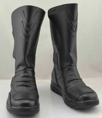 Darth Maul Star Wars Cosplay Black Shoes Boots Custom Made Halloween Cos Boots@7