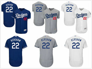 reputable site 93036 e321e Details about Men's Los Angeles Dodgers #22 Clayton Kershaw Flex Base  Jersey Pick Color/Size