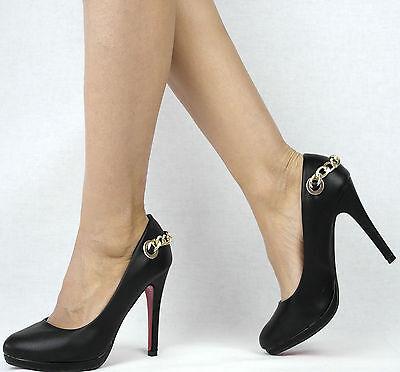 Damenschuhe Schwarz Weiß 36-41 Pumps Damen Schuhe Party High Heels Plateau Abend