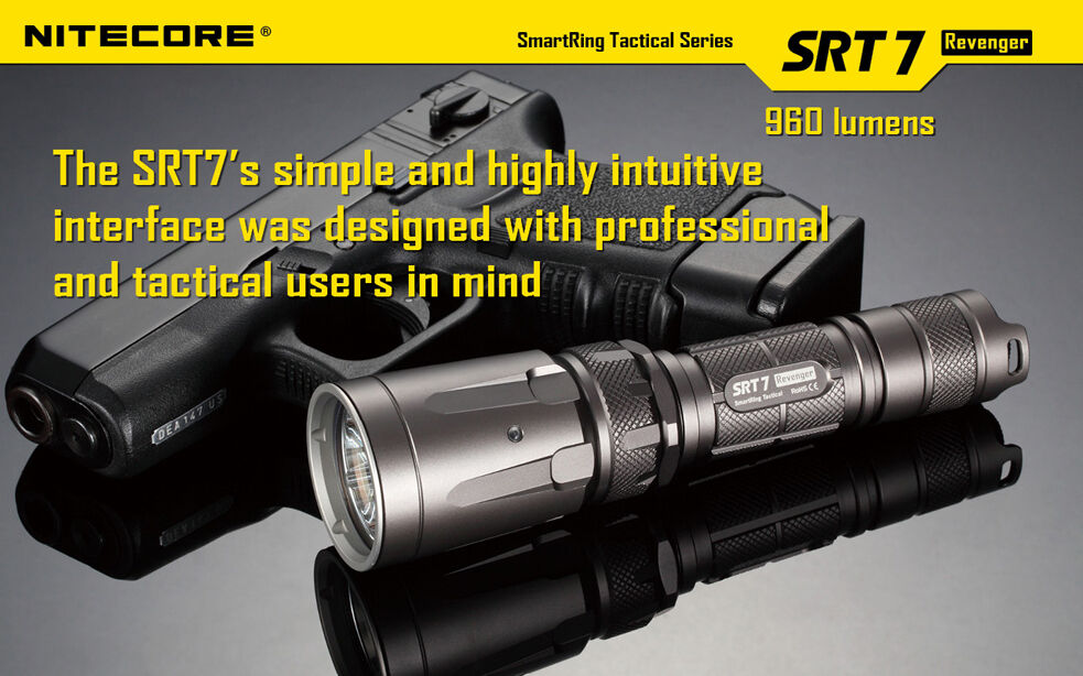 Combo: Nitecore SRT7 NU30 960Lm Flashlight with Nitecore NU30 SRT7 400Lm Headlamp b517ce