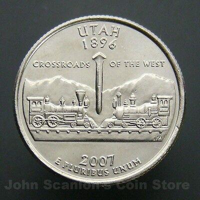 BU Uncirculated 2007 Utah P State Quarter