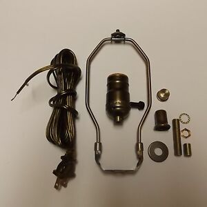 Table lamp wiring kit with 3 way socket7 harp anitque brass cord image is loading table lamp wiring kit with 3 way socket keyboard keysfo Gallery