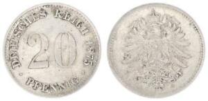 20 Peniques Imperio 1875G VF XF 35062