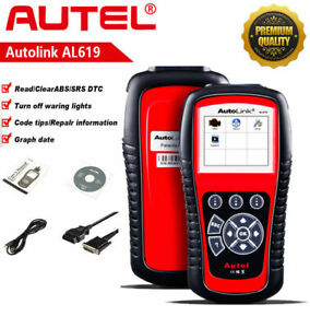 Autel AL619 OBD2 Scanner Engine Airbag ABS SRS Car Diagnostic Code Reader ML619