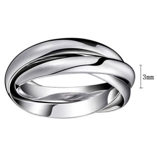 Edelstahlring Damen Herren Ring dreierring Schmuck Trauring Ehering Finger Ring