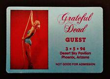 Marilyn Monroe Photo Grateful Dead Backstage Pass Hollywood Movie 3/5/1994 AZ