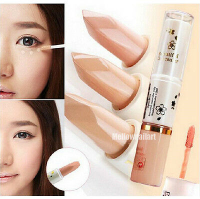 2 Way Concealer Stick Cream Cover Dark Circles Freckles Foundation Makeup