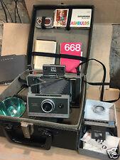 Polaroid  340 Land camera Vintage + etui Bag  flash 3 + flashbulbs /kit 581 516