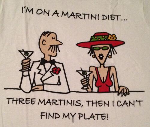 Estoy en una dieta de Martini T-Shirt Wine /& Spirits mujeres Gag Divertido Broma XL nuevo partido