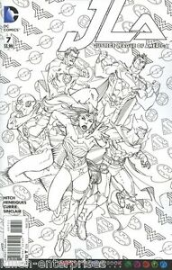 Details About Justice League Of America 7 Adult Coloring Book Variant Comic Book 2016 Dc Jla