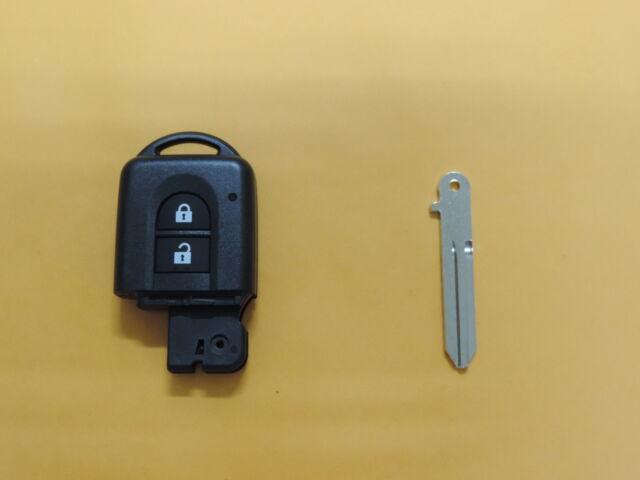 2 Button Shell Remote Fob & Ucut Key Blade For NISSAN QASHQAI PATHFINDER QASC