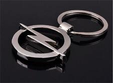 1 Pcs Hot key ring Opel car logo key chain silver color 3D promotional trinket