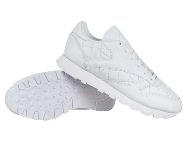 ​Reebok Classic Leather Quilted Women's Sports Trainers Casual Sneakers Shoes