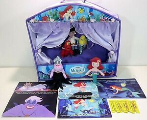 Disney-The-Little-Mermaid-Puppet-Show-Theater-Ariel-Plush-Toy-Finger-Puppet