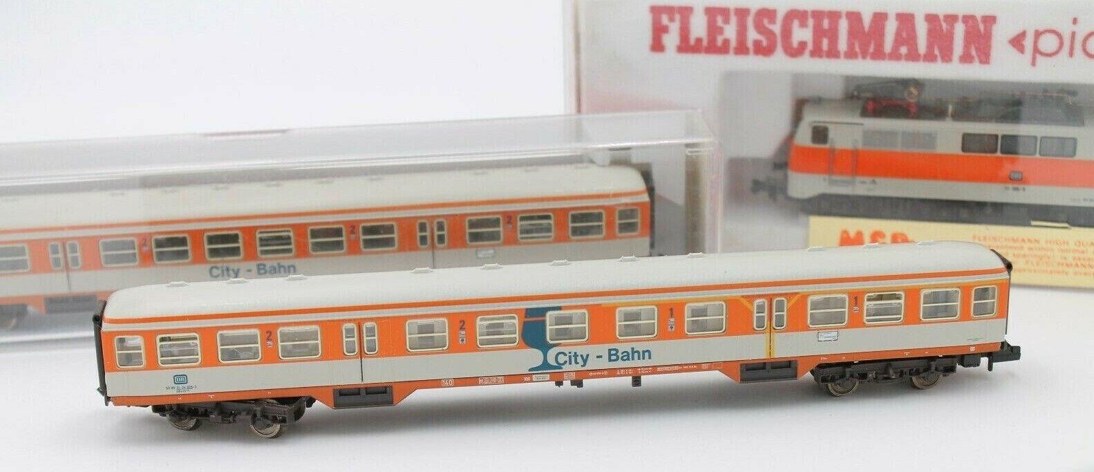 Fleischuomon Spur N SET PICCOLO    dB E-Lok 7349 & 3 x Wagons 8124 8125  OVP 366d80