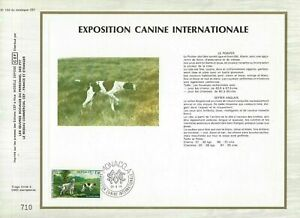 FEUILLET-CEF-1er-JOUR-MONACO-EXPOSITION-CANINE-INTERNATIONALE-1979
