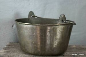 Large-Brass-Cooking-Pot-Antique-Preserve-Jam-Pan