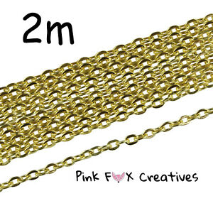 10m COPPER PLATED 3 x 2mm CLOSED CABLE NECKLACE PENDANT FINDING CHAIN JEWELLERY