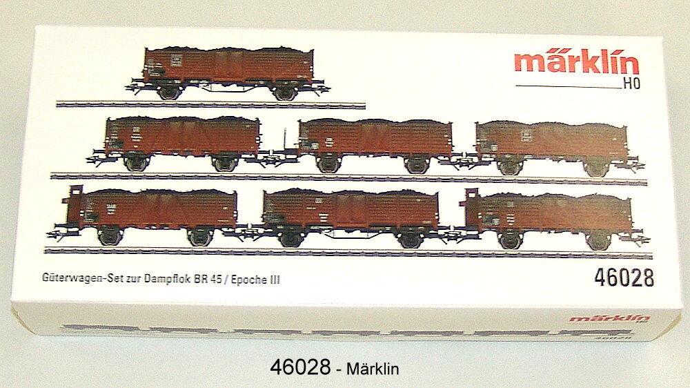 Märklin 46028 Set Vagoni Merci DB 7-teilig Adatto a 37454 # Nuovo in Scatola