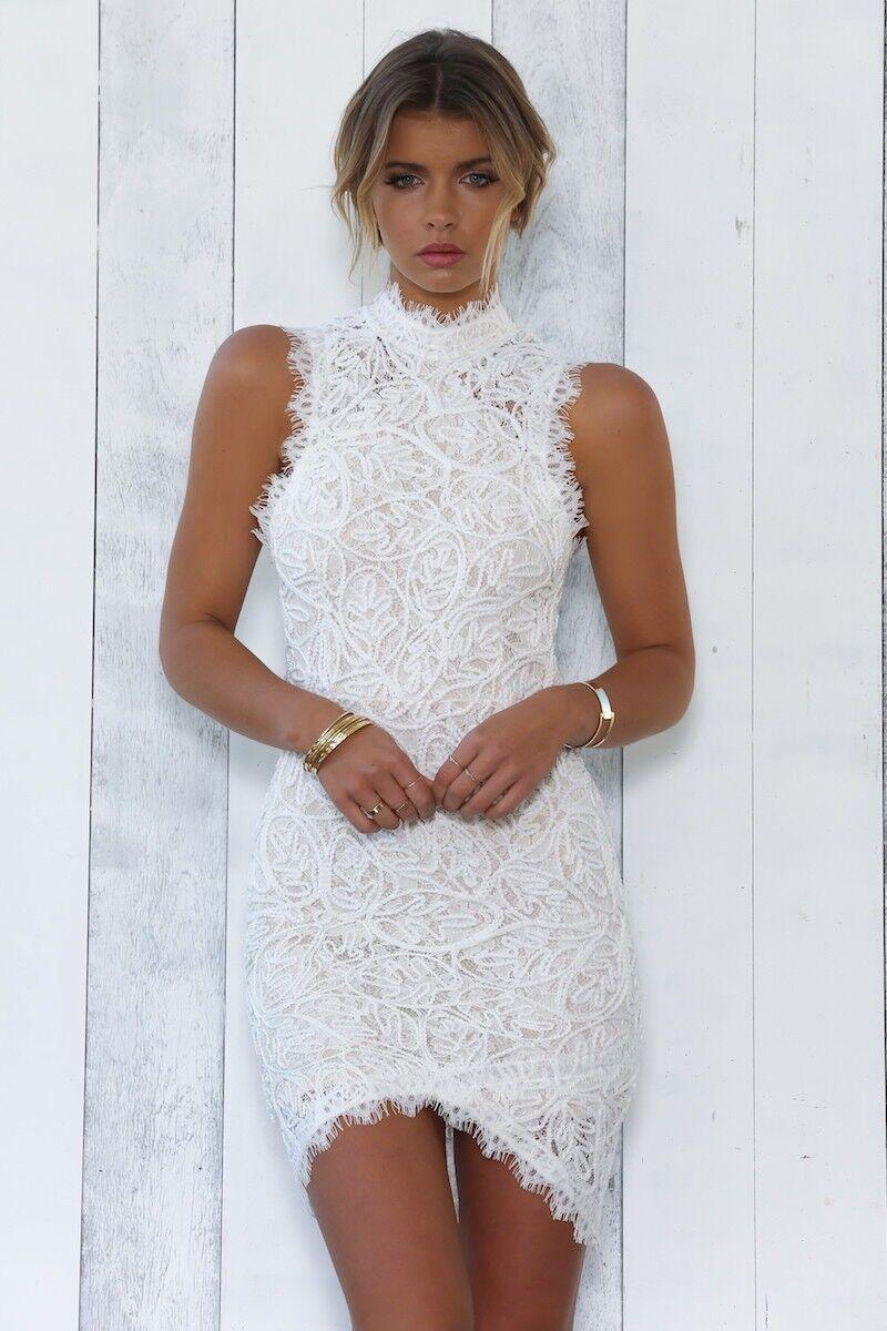 White Camile Dress Size 8