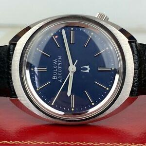 NOS Bulova Accutron Cal. 218 Rare Blue Dial Men's Watch