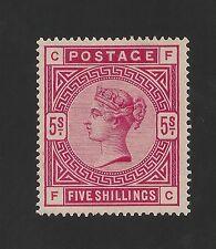 Great Britain #108 (SG #180) EF MVLH - 1884 5sh Victoria - SCV $1,100.00