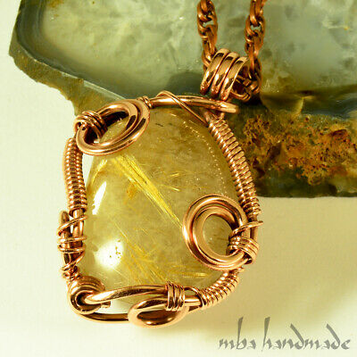 Chain maille wire wrapped Quartz all handmade Copper Earring Necklace set Turquoise