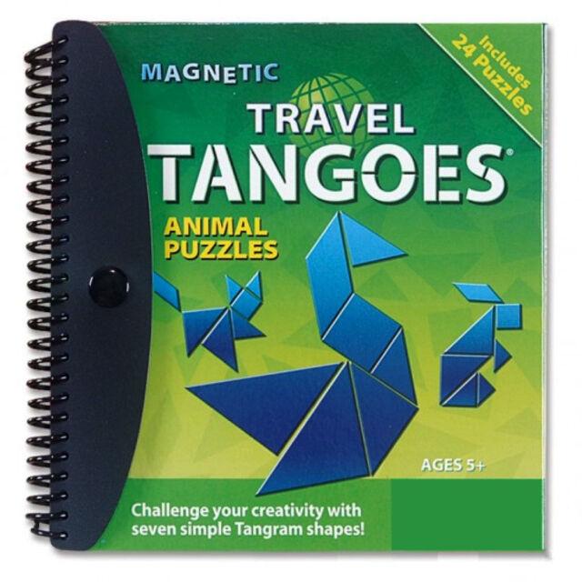 Magnetic Tangram Travel Tangoes Animals Puzzle 24 Challenges Logic & Reasoning