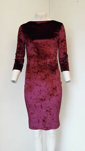 Gorgeous-Deep-Red-Low-Back-3-4-Sleeve-Dress-from-Atmosphere-Size-S-BNWOT