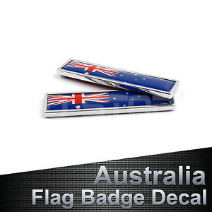 X Alloy Australia Logo AU Flag Badges Car SUV Truck Boat Emblems - Decals for boats australia