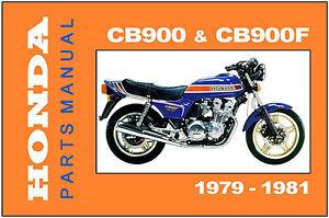 honda parts manual cb900 cb900f cb900f2 1979 1980 1981 spares rh ebay com 1981 honda cb900f service manual pdf honda cb900f manual download