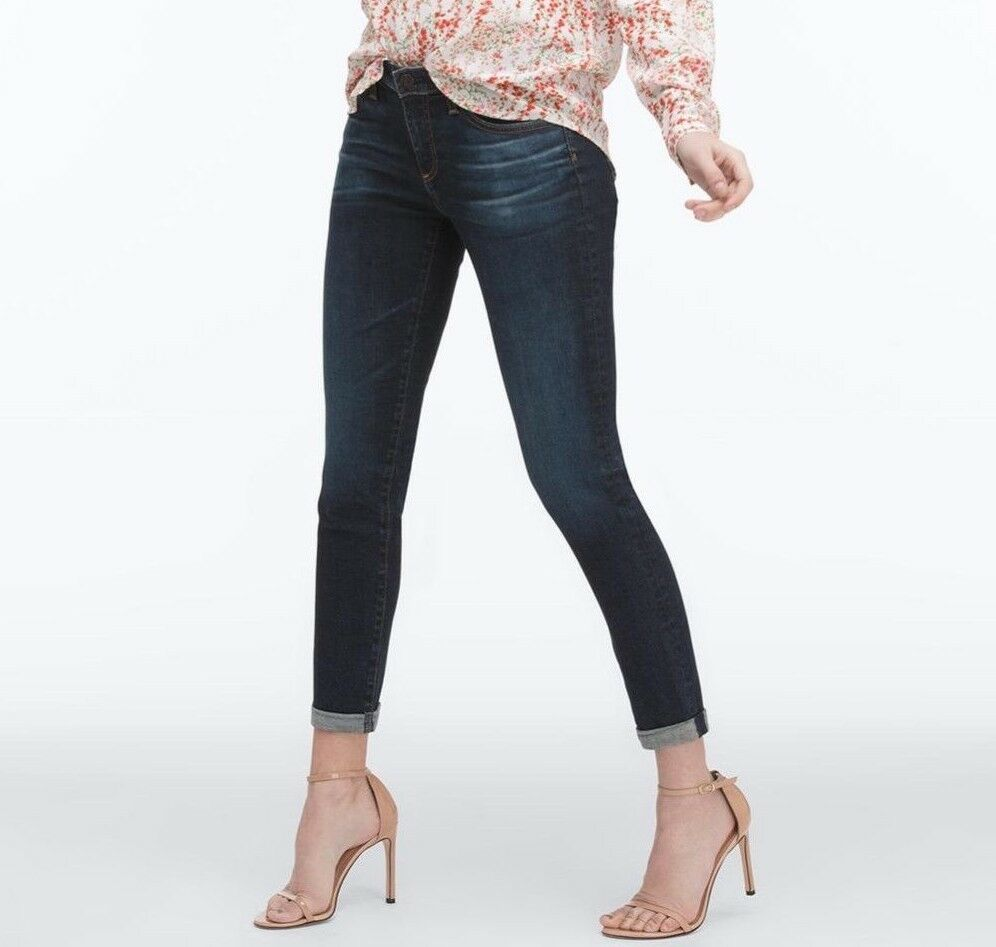 NWT ADRIANO goldSCHMIED Sz27 THE PRIMA CROP CIGARETTE MIDRISE JEANS 2Y BEGINNING