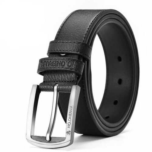 Men/'s Genuine Cow Leather Waistband Waist Belt Strap Girdle Smooth Buckle New