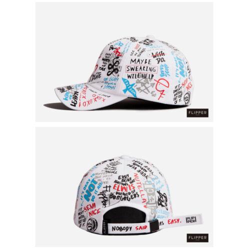 Unisex Mens Womens Flipper Sketch Graffiti Baseball Cap Adjustable Trucker Hats