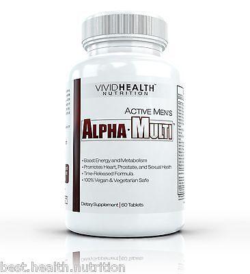 Vivid Health Nutrition Active Mens ALPHA MULTI - High Performance Multivitamin
