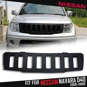 Front Matte Black Abs Grid Grill Grille For Nissan Frontier Navara