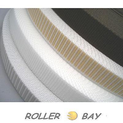 50 M Avvolgibile Cinghia Bianco Grigio Beige Marrone Cintura Rolladengurt 14 18 23 Mm- Sconto Del 50