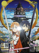 SWORD ART ONLINE The Complete Anime TV Series Ep.1 to 25 End DVD Box Set