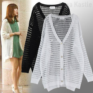 AnnaKastle Womens Oversized Summer Crocheted Sweater Cardigan ...