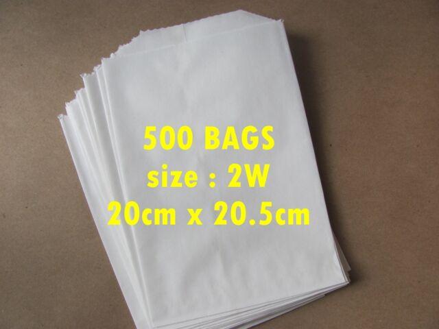 500 Paper bags / sandwich bags size 1SO (10cm x 18.5cm)
