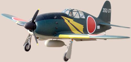1//8 Scale Marutaka Japanese WW-II Mitsubishi J2M Raiden Plans /& Templates 50ws
