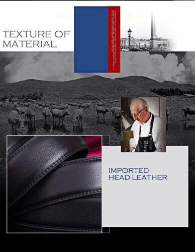 Herren Gürtel Jaguar Automatik Schnalle Herrengürtel Ratchet Echtes Leder Jeans