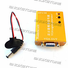PORTABLE LCD MONITOR REPAIR SOURCE VGA MULTIPLE FREQUENCY SIGNAL TESTER SCREEN